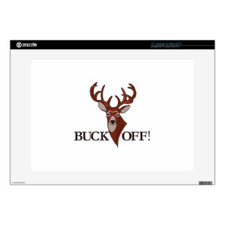 Buck Off! Decal For Laptop