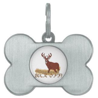 Buck Off! Pet ID Tag
