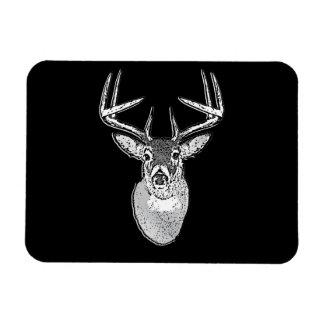 Buck on Black design White Tail Deer Magnet