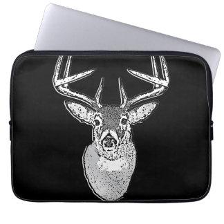 Buck on Black White Tail Deer classic Laptop Sleeve