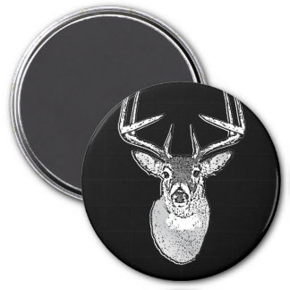 Buck on Black White Tail Deer classic Magnet
