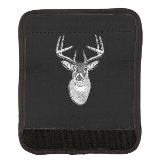 Buck on Black White Tail Deer head Luggage Handle Wrap