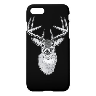 Buck on Black White Tail Deer iPhone 8/7 Case