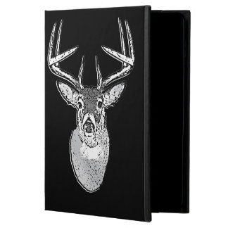 Buck on Black White Tail Deer trophy Cover For iPad Air
