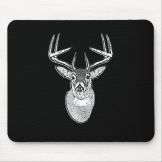 Buck on Bold Black White Tail Deer Mouse Pad