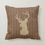 Buck on Leather Look Pillow