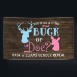 "Buck or Doe Gender Reveal Party Baby Shower Banner<br><div class=""desc"">Country themed gender reveal party banner. Will it be a buck or doe?</div>"