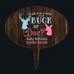 "Buck or Doe Gender Reveal Party Baby Shower Cake Topper<br><div class=""desc"">Country themed gender reveal party cake topper. Will it be a buck or doe? Your guests will love this fun theme! Easily personalize with your event details.</div>"