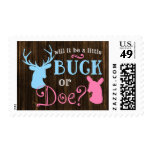 Buck or Doe Gender Reveal Party Baby Shower Postage
