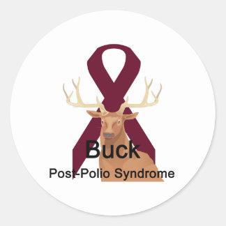 Buck-Post-Polio-Syndrome Classic Round Sticker