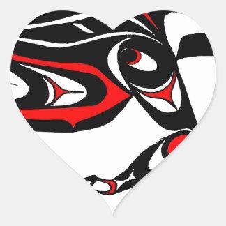 buck red borderless.jpg heart sticker