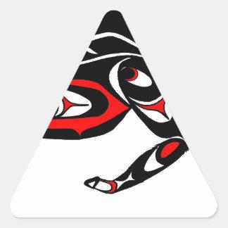 buck red borderless.jpg triangle sticker