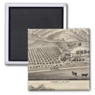 Buck res, Bunker Hill Farm 2 Inch Square Magnet
