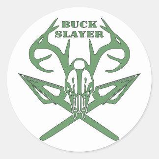 Buck Slayer Deer & Arrows Classic Round Sticker