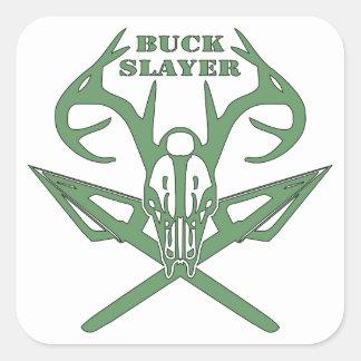 Buck Slayer Deer & Arrows Square Sticker