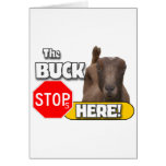 Buck Stops HERE! GOAT Cards