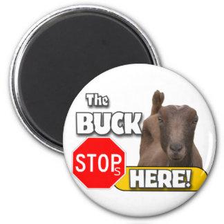 Buck Stops HERE! GOAT Magnet