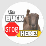 Buck Stops HERE! GOAT Stickers