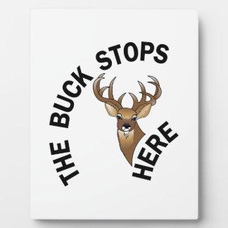 Buck Stops Here Plaque