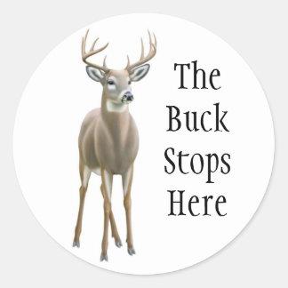 Buck Stops Here Sticker