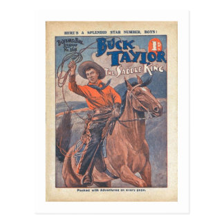 Buck Taylor - Vintage Dime Western Comic Postcard