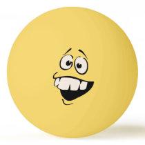 Buck Teeth Face Ping Pong Ball