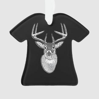 Buck trophy on Black White Tail Deer Ornament
