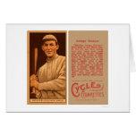 Buck Weaver White Sox Baseball 1912 Greeting Card
