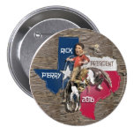 Buckaroo 2016 del caballo salvaje de Rick Perry Pin Redondo 7 Cm