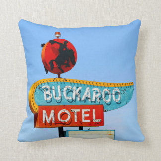 Buckaroo and Pony Soldier Motels, Tucumcari, N.M. Throw Pillow