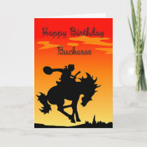 Buckaroo Birthday Card