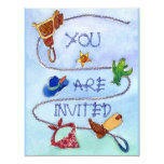 BUCKAROO BIRTHDAY PARTY INVITATION ~ EZ2 CUSTOMIZE