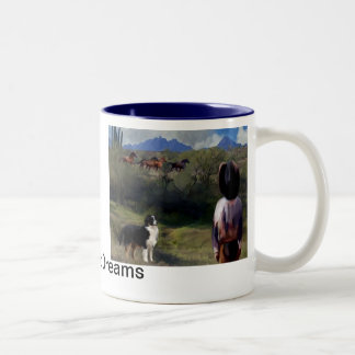 buckaroo dreams Two-Tone coffee mug