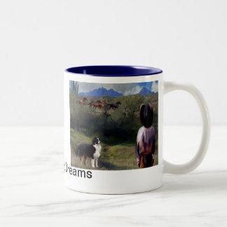 buckaroo dreams Two-Tone coffee mug