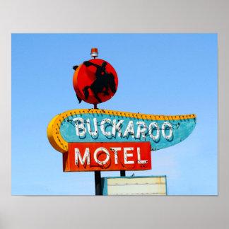 Buckaroo Motel Sign, Tucumcari, New Mexico Poster