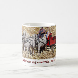Buckboard del carro de la granja del caballo de taza