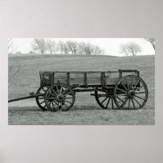 Buckboard wagon poster