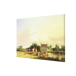 Buckenham Ferry on the River Yare, Norfolk, 1826 ( Stretched Canvas Print