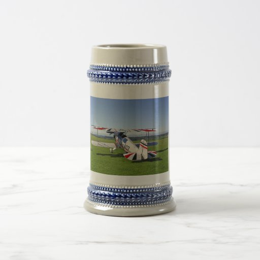 Bucker Jungmann German Bi-plane Stein Coffee Mugs