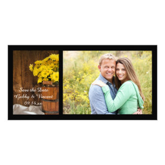 Bucket and Daisies Country Wedding Save the Date Card