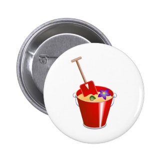 Bucket and Spade 2 Inch Round Button