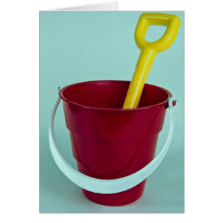 Bucket and spade greeting card
