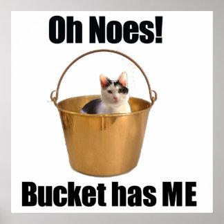 Bucket Cat Poster
