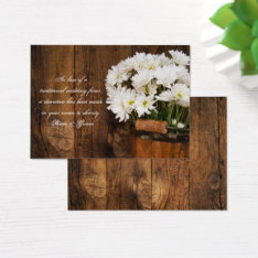 Bucket Daisies Country Wedding Charity Favor Card at Zazzle