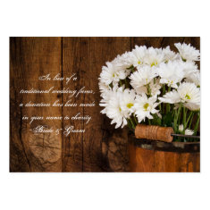 Bucket Daisies Country Wedding Charity Favor Card Business Card Templates
