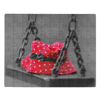 Bucket Hat on Kids Swing Jigsaw Puzzle