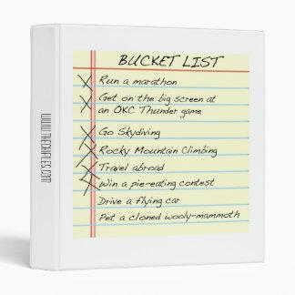 Bucket List Binder