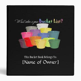 Bucket List Book 3 Ring Binder