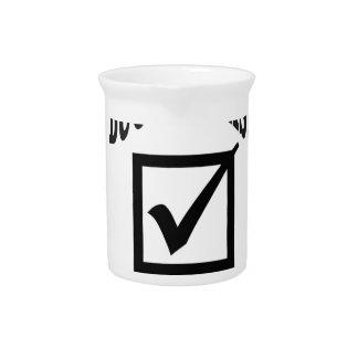 bucket list done drink pitcher