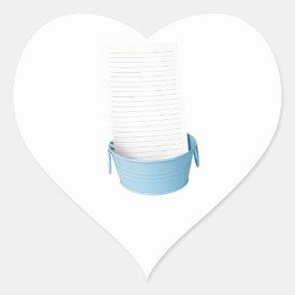 Bucket list heart sticker